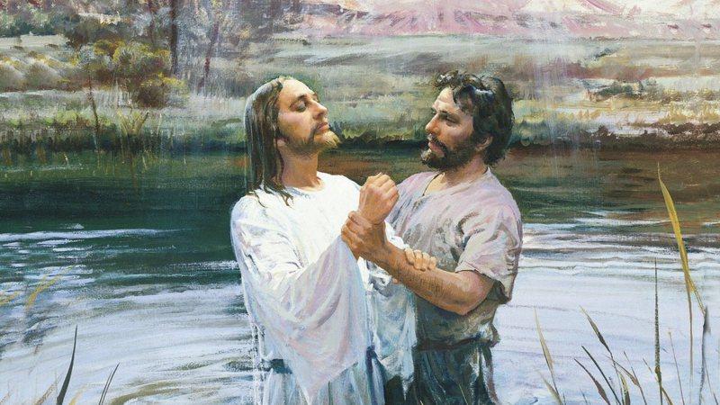 Representação de Jesus e João Batista
