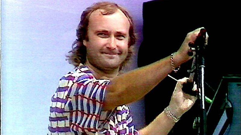 Phil Collins durante o Live Aid