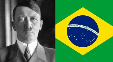 Hitler e bandeira do Brasil, respectivamente - Creative Commons