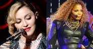 As artistas Madonna e Janet Jackson - Wikimedia Commons
