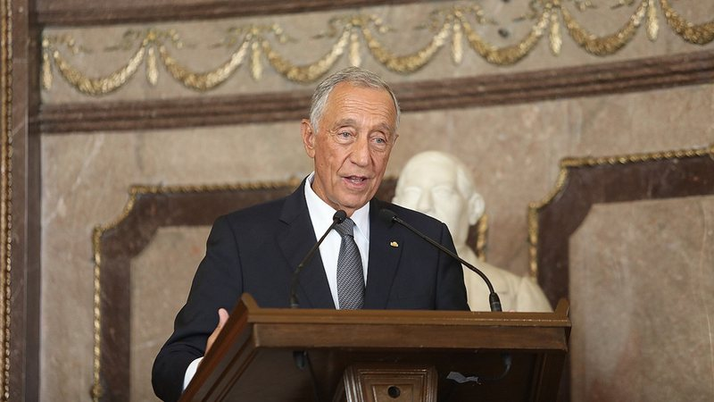 Foto do presidente Marcelo Rebelo de Sousa