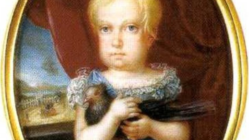 Pintura da pequena Paula de Bragança