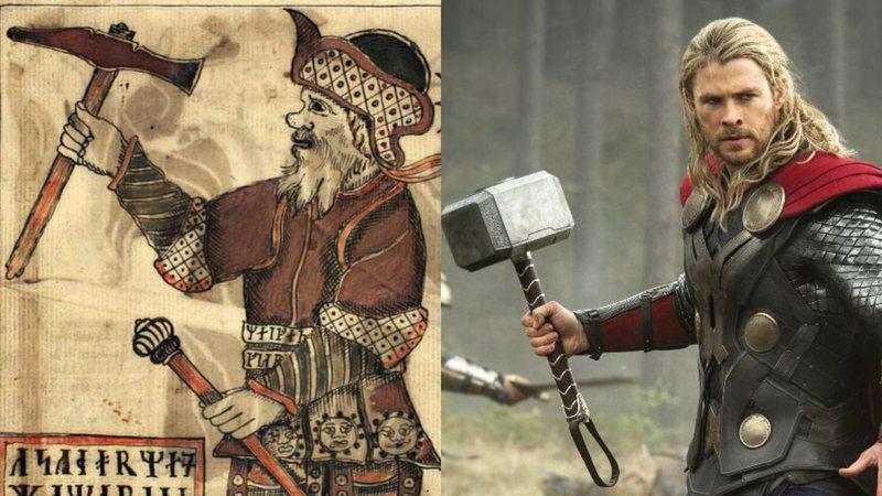 Ilustração do deus nórdico Thor/Chris Hemsworth como Thor