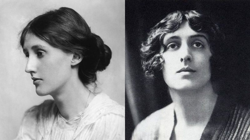 Virginia Woolf e Sackville-West, respectivamente