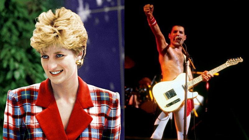 Lady Di e Fred Mercury