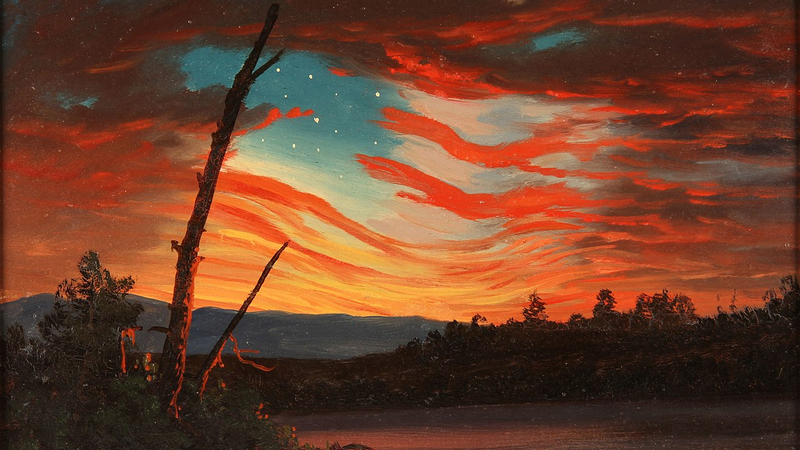 Our Banner in the Sky (1861), de Frederic Edwin Church