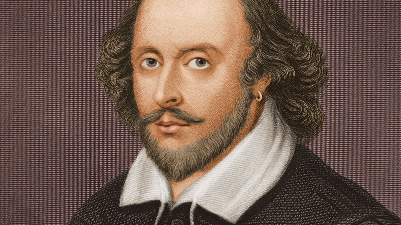 O dramaturgo inglês William Shakespeare