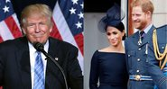 Presidente Donald Trump e os Duques de Sussex, Meghan e Harry - Wikimedia Commons/Getty Images