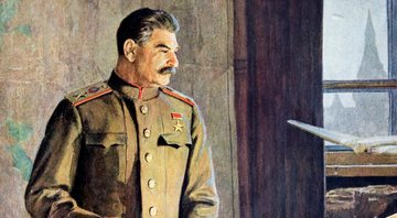 Pintura que mostra Josef Stalin - Getty Images