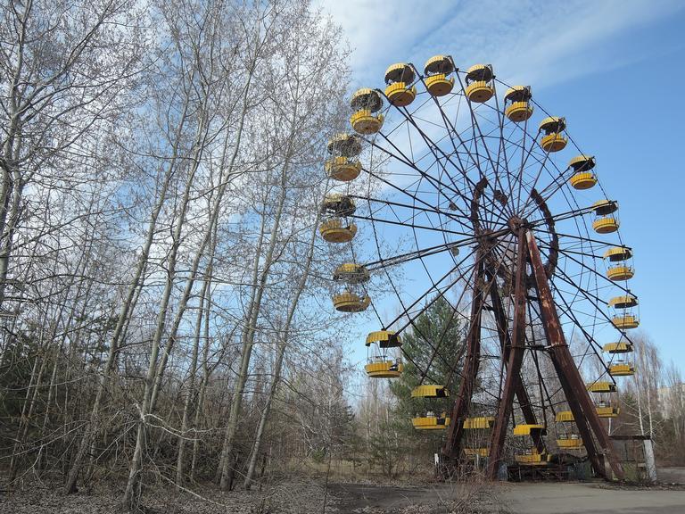 Roda gigante emPripyat abandonada após acidente / Créditos: Reprodução