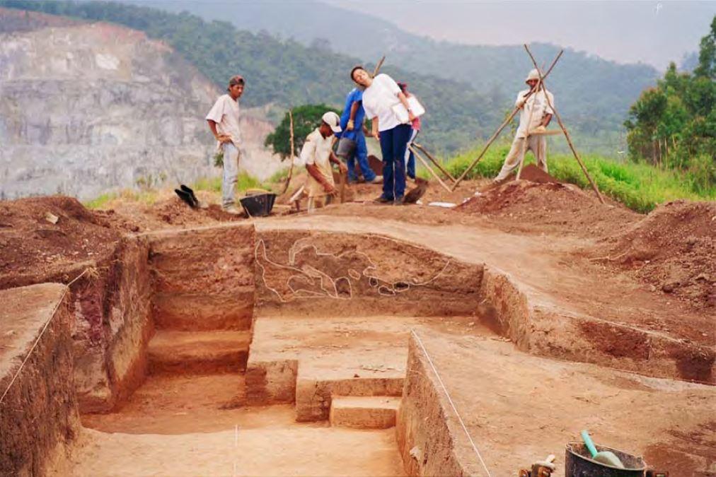 Escavação do Sítio Jaraguá I, em São Paulo. Foto: Centro de Arqueologia de São Paulo.