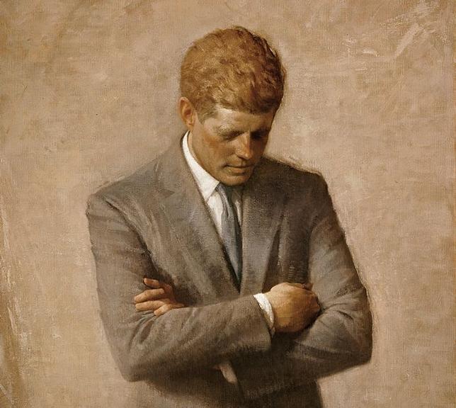 Retrato póstumo de John F. Kennedy, na Casa Branca