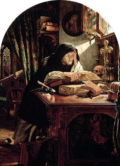 Lutero em Erfurt, quadro de 1861 | <i>Crédito: Joseph Noel Paton