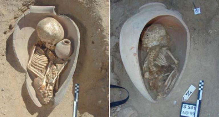 Crianças enterradas em vasos cerâmicos