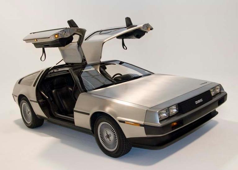 Na vida real, o DeLorean não teve futuro