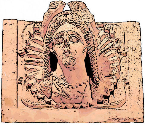 Deusa árabe Al-Uzza, relacionada à Afrodite grega