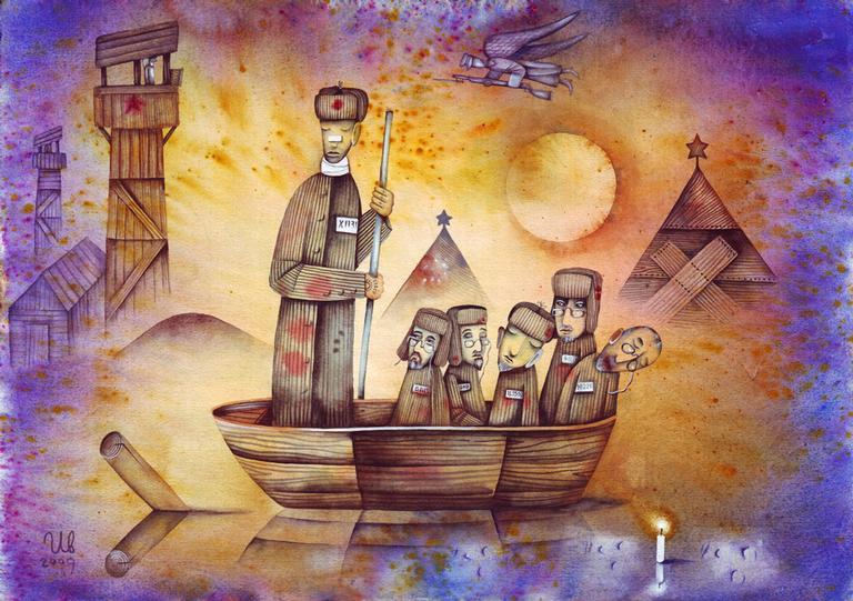 Uma visão da miséria dos gulags por um artista russo contemporâneo