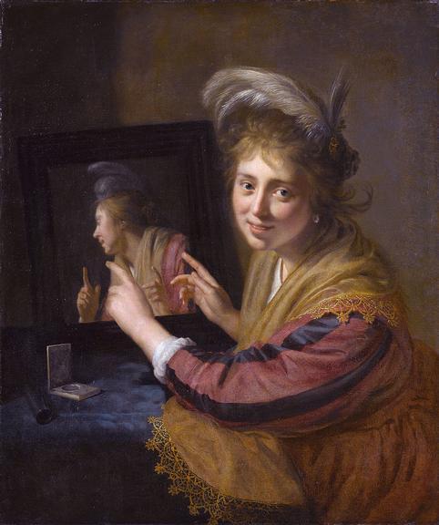 Quadro de 1632, quando o espelho era raridade