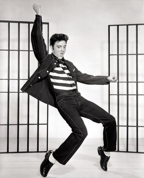 O rei do rock, Mr. Elvis Pelvis, fazendo sua revolução.