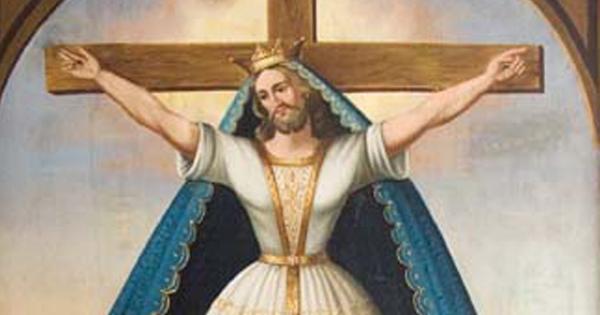 A 'santa' em uma de suas múltiplas representações pela Europa