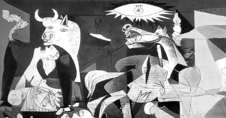 Detalhe do quadro Guernica, de Pablo Picasso