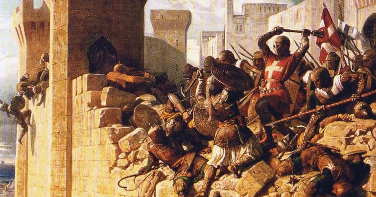 A queda da fortaleza em ilustração de 1840