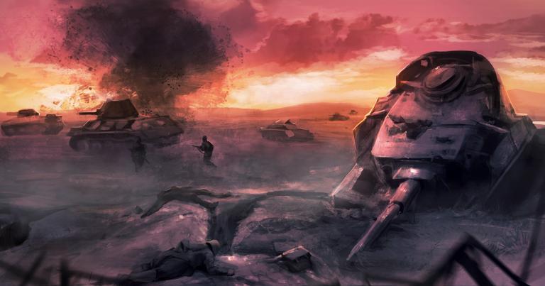 Cenário de destruição na Segunda Guerra