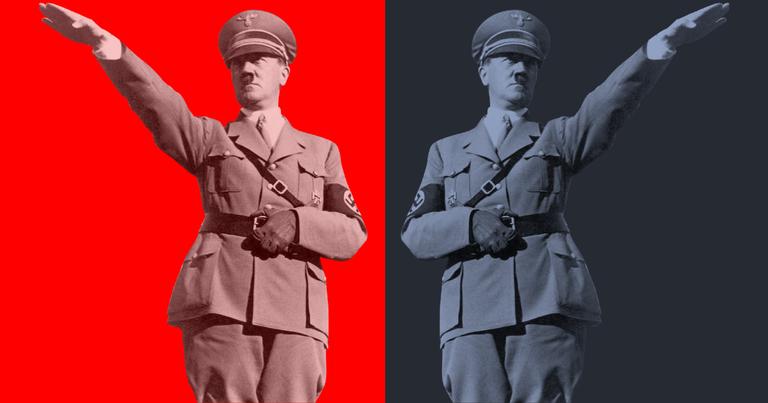 Hitler: atirando para os dois lados   <i>Crédito: Wikimedia Commons