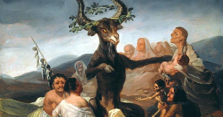 Representação de um antigo ritual satânico