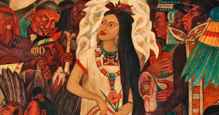 Obra representa Malinche | <i>Crédito: Domínio publico