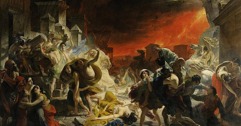 Obra 'O último dia de Pompéia'