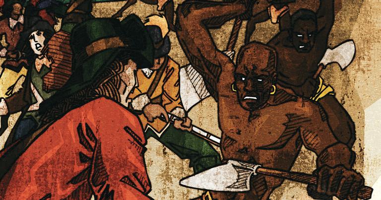 Na primeira missão em Angola, os brasileiros foram derrotados e devorados pelos canibais jagas