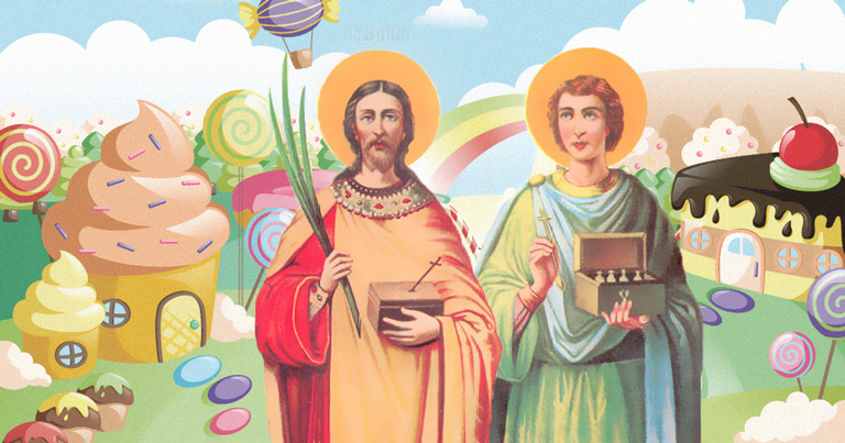 Conheça a trajetória dos santos gêmeos