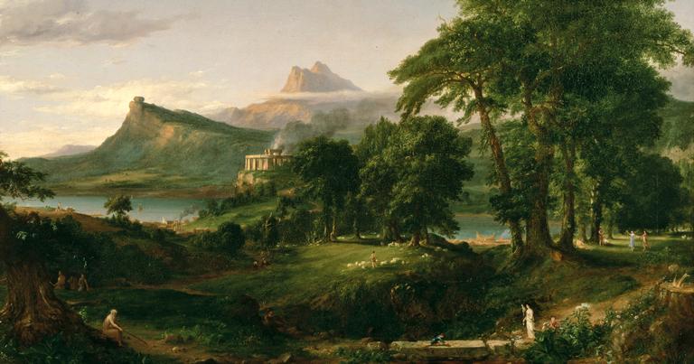 A obra 'The Arcadian' de Thomas Cole
