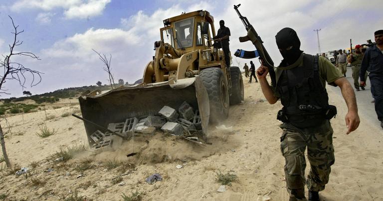 Buldôzer do Hamas na Faixa de Gaza