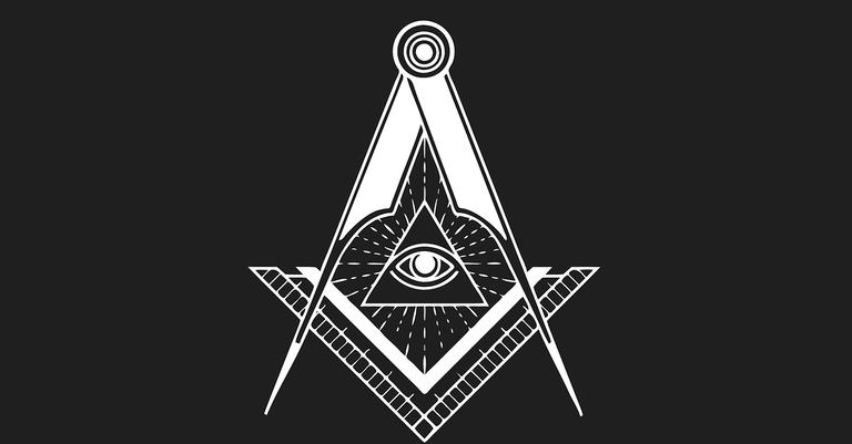 Compasso e olho símbolos da maçonaria
