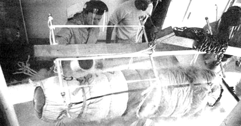 O congelamento do primeiro paciente