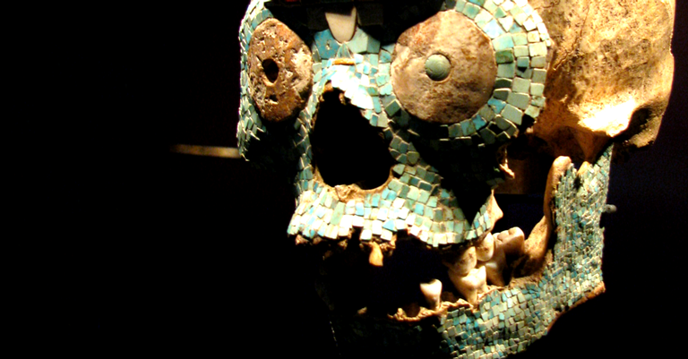 Caveira decorada cerimonial de Tenochtitlán