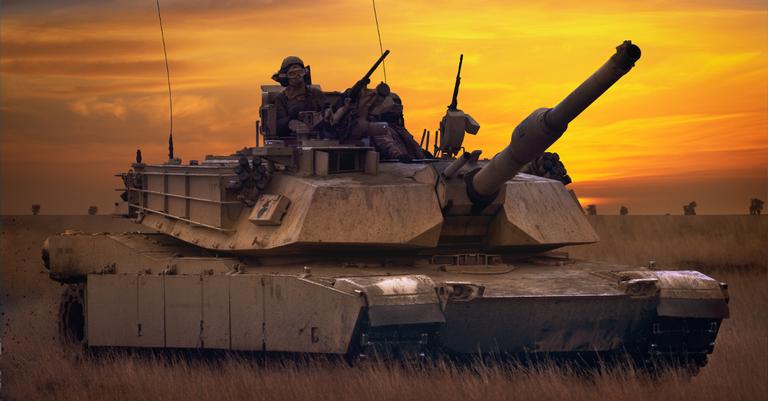 Um M1A1 Abrams americano