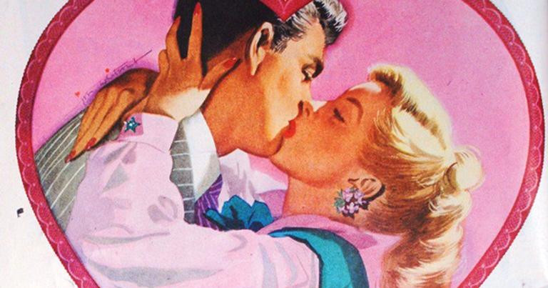 Cartaz de dia dos namorados de 1950