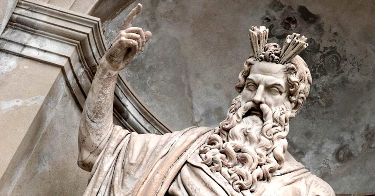 Zeus, também conhecido como Júpiter