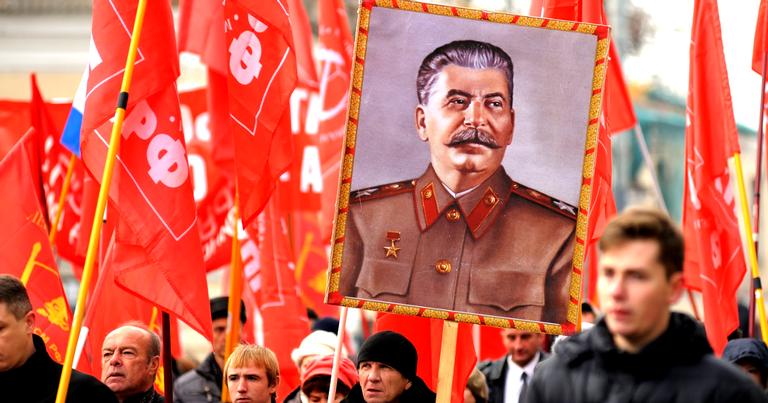 Marcha do Partido Comunista da Rússia em novembro de 2015