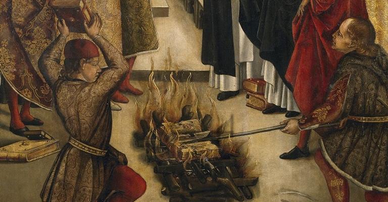 Não só livros, como pessoas foram parar na fogueira