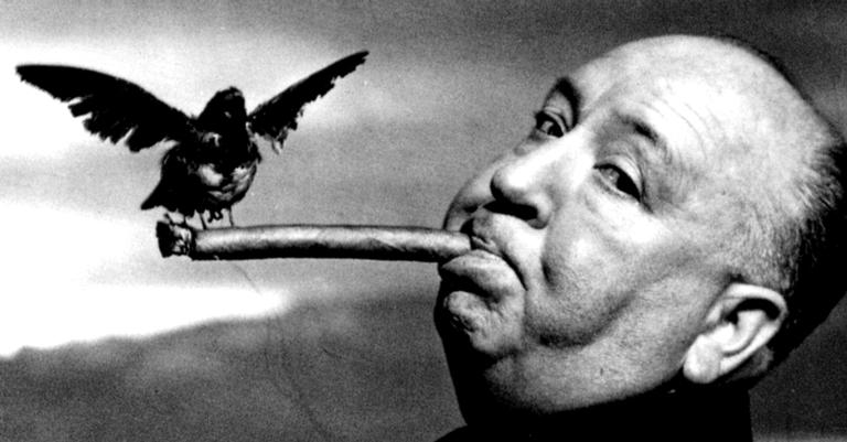 Alfred Hitchcock na produção de Os Pássaros