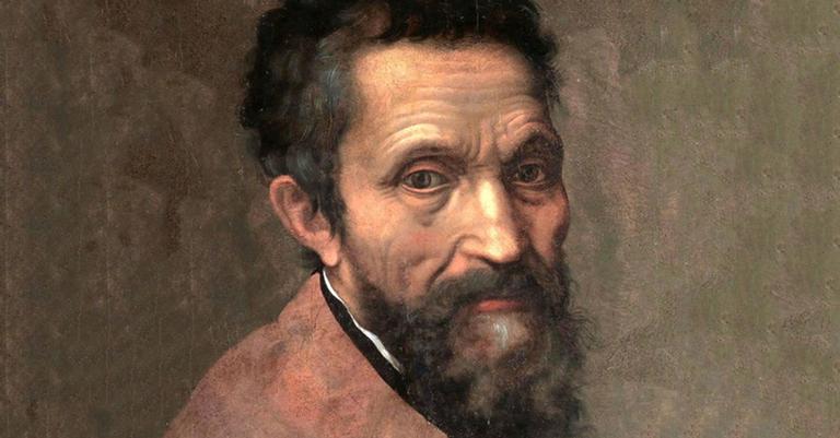 Retrato de Michelângelo feito pelo discípulo Daniele da Volterra, em 1544