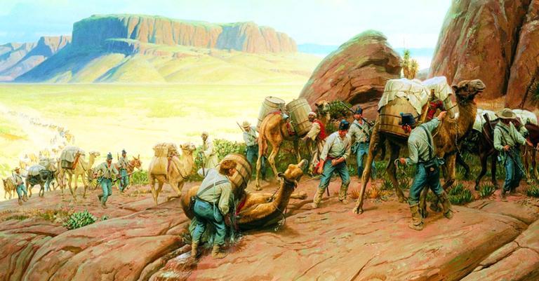 A obra de Thomas Lovell que representa os animais no Texas