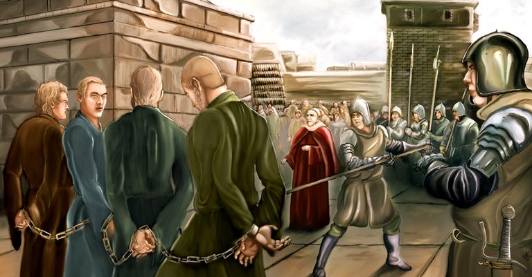 Um dos primeiros objetivos da Inquisição foi achar e julgar os cátaros que agiam ás escondidas