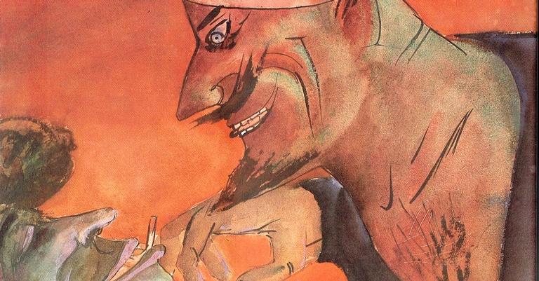 """Marinheiro e Prostituta"" de Otto Dix"