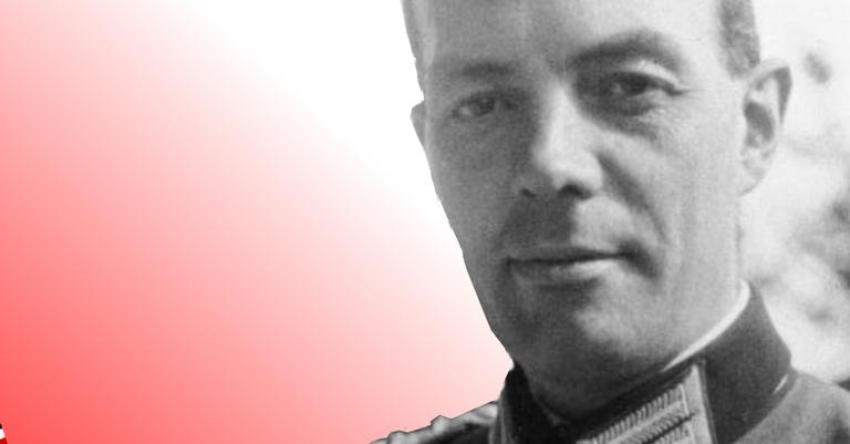 Foto do generalmajor em 1944