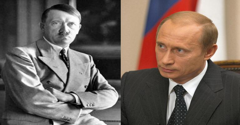 Vladimir Putin foi comparado com Hitler